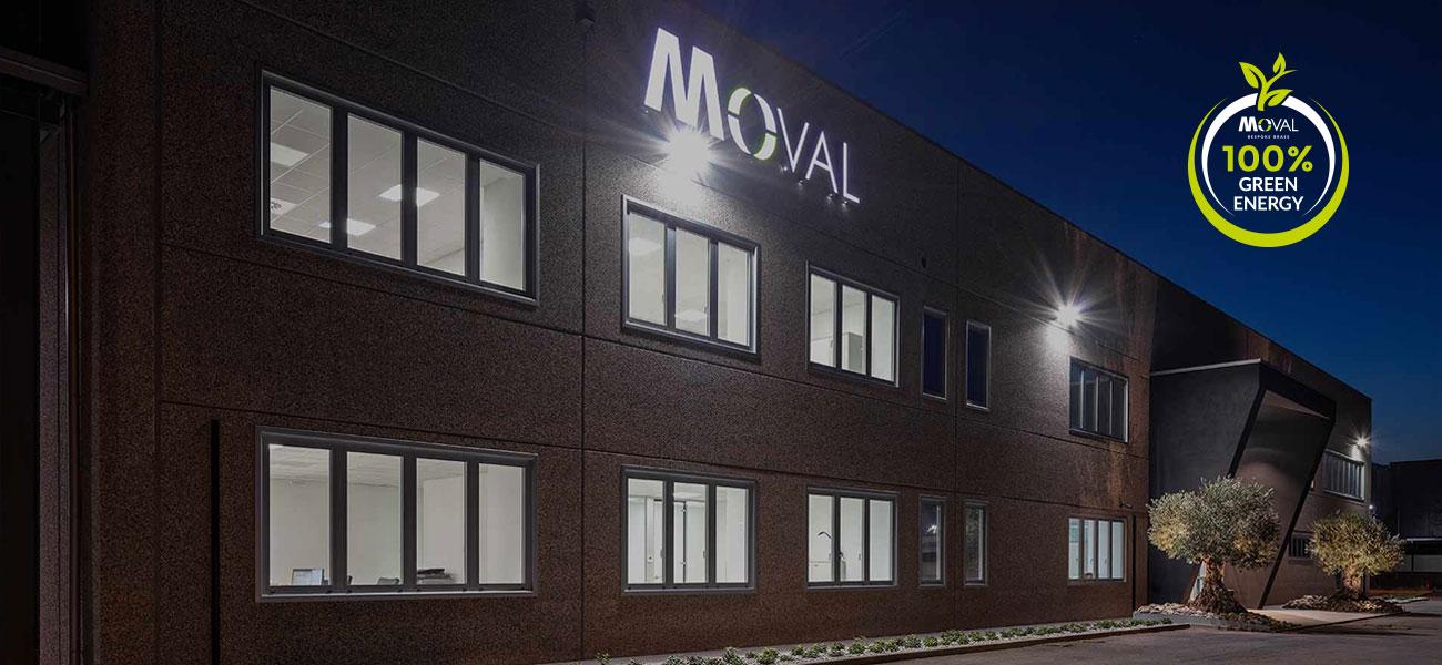 Moval lavorazione ottone energia green 100% verde